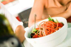 light lunch con insalata